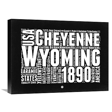 Naxart 'Wyoming Map' Textual Art on Wrapped Canvas; 18'' H x 24'' W x 1.5'' D