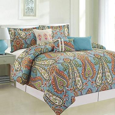 Luxury Home Mystic 6 Piece Comforter Set; Queen