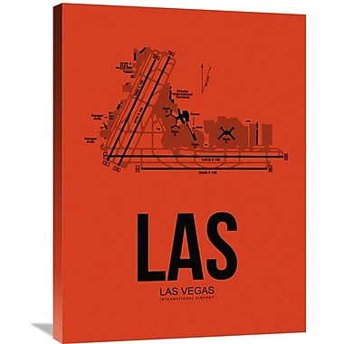 Naxart 'LAS Las Vegas Airport' Graphic Art on Wrapped Canvas; 32'' H x 24'' W x 1.5'' D