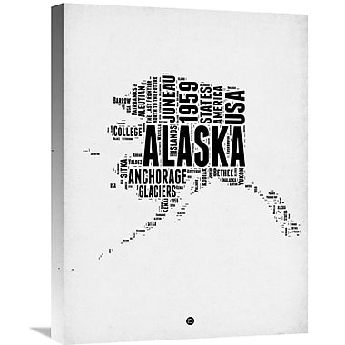 Naxart 'Alaska Word Cloud 2' Textual Art on Wrapped Canvas; 24'' H x 18'' W x 1.5'' D