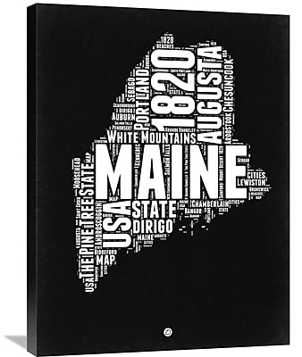 Naxart 'Maine Map' Textual Art on Wrapped Canvas; 32'' H x 24'' W x 1.5'' D