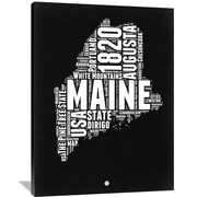 Naxart 'Maine Map' Textual Art on Wrapped Canvas; 48'' H x 36'' W x 1.5'' D