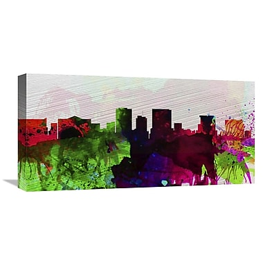 Naxart 'El Paseo City Skyline' Painting Print on Wrapped Canvas; 12'' H x 24'' W x 1.5'' D