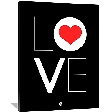 Naxart 'Love Poster 4' Textual Art on Wrapped Canvas; 48'' H x 36'' W x 1.5'' D