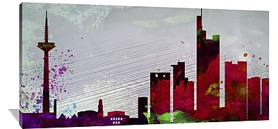 Naxart 'Frankfurt City Skyline' Graphic Art on Wrapped Canvas; 36'' H x 72'' W x 1.5'' D