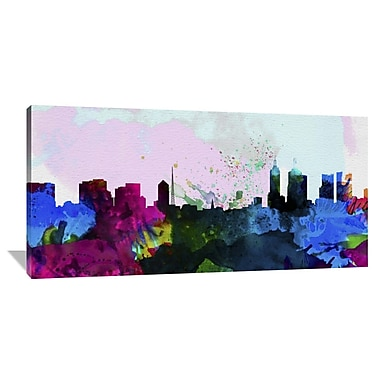 Naxart 'Melbourne City Skyline' Graphic Art on Wrapped Canvas; 30'' H x 60'' W x 1.5'' D