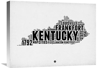 Naxart 'Kentucky Word Cloud 2' Textual Art on Wrapped Canvas; 24'' H x 32'' W x 1.5'' D