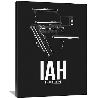 Naxart 'IAH Houston Airport' Graphic Art on Wrapped Canvas; 40'' H x 30'' W x 1.5'' D