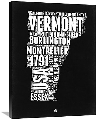 Naxart 'Vermont Map' Textual Art on Wrapped Canvas; 32'' H x 24'' W x 1.5'' D