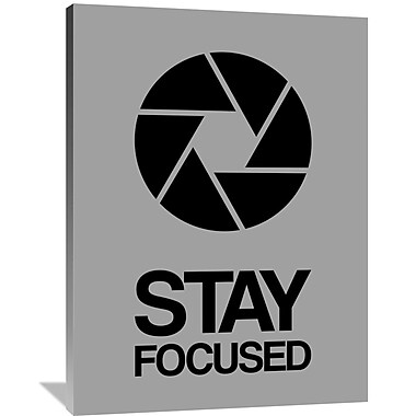 Naxart 'Stay Focused Circle Poster 3' Graphic Art on Wrapped Canvas; 48'' H x 36'' W x 1.5'' D