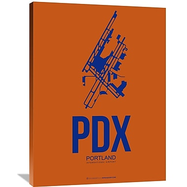 Naxart 'PDX Portland Poster 1' Graphic Art on Wrapped Canvas; 40'' H x 30'' W x 1.5'' D