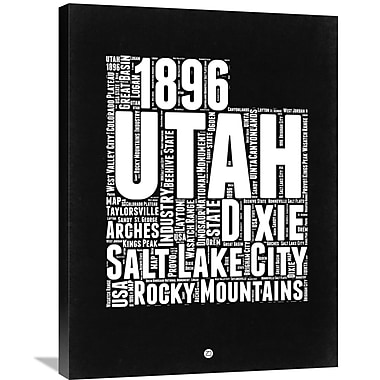 Naxart 'Utah Map' Textual Art on Wrapped Canvas; 32'' H x 24'' W x 1.5'' D