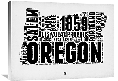 Naxart 'Oregon Word Cloud 1' Textual Art on Wrapped Canvas; 24'' H x 32'' W x 1.5'' D