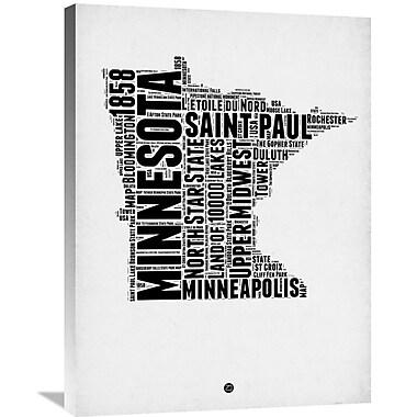 Naxart 'Minnesota Word Cloud 2' Textual Art on Wrapped Canvas; 32'' H x 24'' W x 1.5'' D