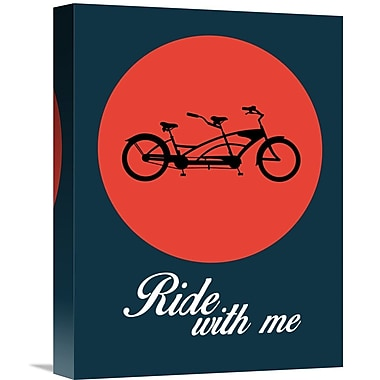 Naxart 'Ride w/ Me Poster 1' Graphic Art on Wrapped Canvas; 16'' H x 12'' W x 1.5'' D