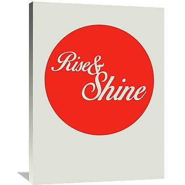 Naxart 'Rise and Shine 1' Textual Art on Wrapped Canvas; 40'' H x 30'' W x 1.5'' D