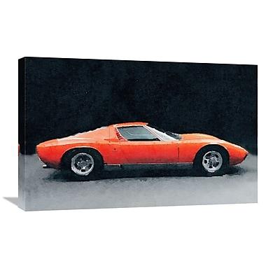 Naxart '1971 Lamborghini Miura P400 S' Graphic Art on Wrapped Canvas; 20'' H x 30'' W x 1.5'' D
