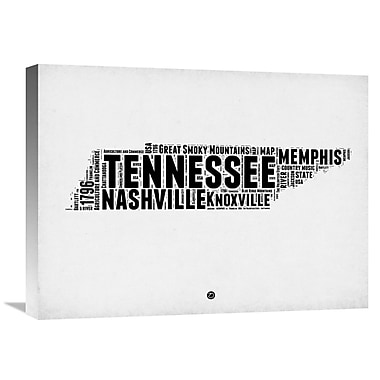 Naxart 'Tennessee Word Cloud 2' Textual Art on Wrapped Canvas; 18'' H x 24'' W x 1.5'' D