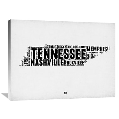 Naxart 'Tennessee Word Cloud 2' Textual Art on Wrapped Canvas; 30'' H x 40'' W x 1.5'' D