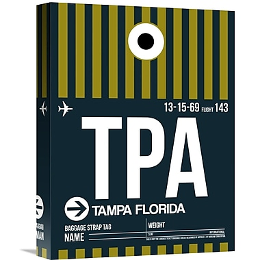 Naxart 'TPA Tampa Luggage Tag 2' Graphic Art on Wrapped Canvas; 16'' H x 12'' W x 1.5'' D