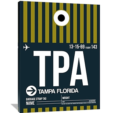 Naxart 'TPA Tampa Luggage Tag 2' Graphic Art on Wrapped Canvas; 48'' H x 36'' W x 1.5'' D