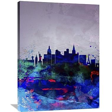 Naxart 'Las Vegas Watercolor Skyline' Graphic Art on Wrapped Canvas; 40'' H x 30'' W x 1.5'' D