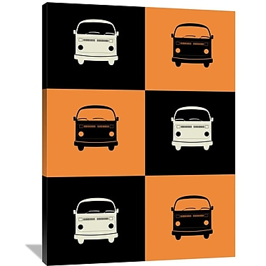 Naxart 'Bus Poster' Graphic Art on Wrapped Canvas; 48'' H x 36'' W x 1.5'' D