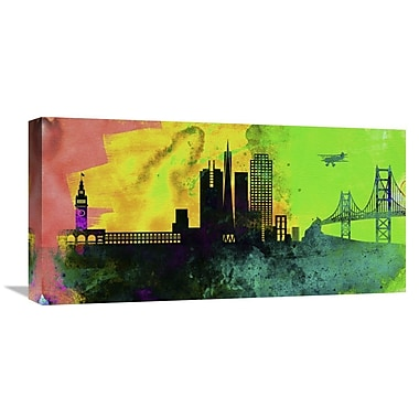Naxart 'San Francisco City Skyline' Graphic Art on Wrapped Canvas; 24'' H x 48'' W x 1.5'' D