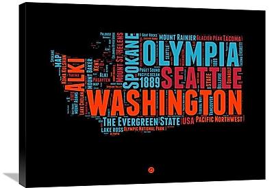 Naxart 'Washington Word Cloud 1' Textual Art on Wrapped Canvas; 24'' H x 32'' W x 1.5'' D