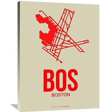 Naxart 'BOS Boston Poster 1' Graphic Art on Wrapped Canvas; 40'' H x 30'' W x 1.5'' D