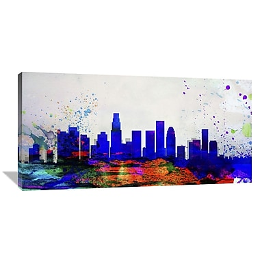 Naxart Los Angeles City Skyline Graphic Art on Wrapped Canvas; 24'' H x 48'' W x 1.5'' D