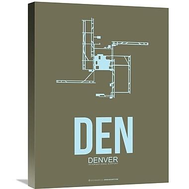 Naxart 'DEN- Denver Poster 3' Graphic Art on Wrapped Canvas; 24'' H x 18'' W x 1.5'' D