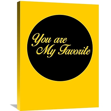 Naxart 'You Are My Favorite 1' Textual Art on Wrapped Canvas; 32'' H x 24'' W x 1.5'' D