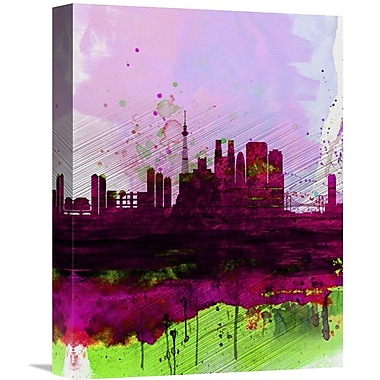 Naxart 'Tokyo Watercolor Skyline' Graphic Art on Wrapped Canvas; 16'' H x 12'' W x 1.5'' D