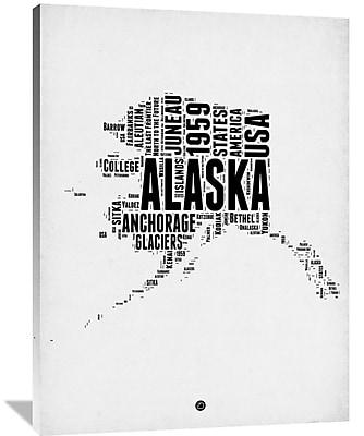 Naxart 'Alaska Word Cloud 2' Textual Art on Wrapped Canvas; 48'' H x 36'' W x 1.5'' D