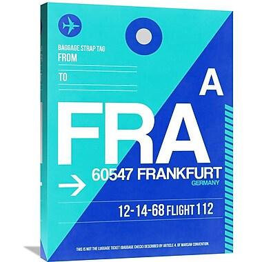 Naxart 'FRA Frankfurt Luggage Tag 1' Graphic Art on Wrapped Canvas; 32'' H x 24'' W x 1.5'' D