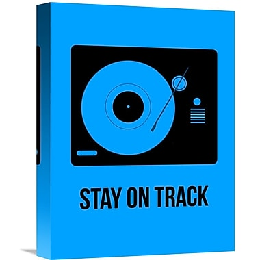 Naxart 'Stay On Track Poster' Graphic Art on Wrapped Canvas; 16'' H x 12'' W x 1.5'' D