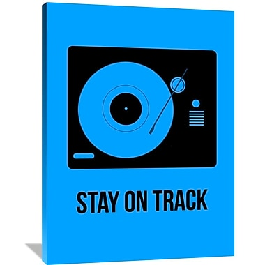 Naxart 'Stay On Track Poster' Graphic Art on Wrapped Canvas; 48'' H x 36'' W x 1.5'' D