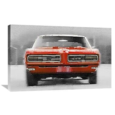 Naxart '1968 Pontiac GTO Front' Graphic Art on Wrapped Canvas; 24'' H x 36'' W x 1.5'' D
