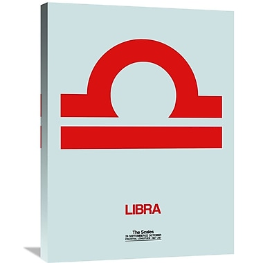 Naxart 'Libra Zodiac Sign' Graphic Art on Wrapped Canvas; 32'' H x 24'' W x 1.5'' D