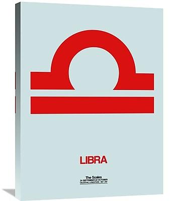 Naxart 'Libra Zodiac Sign' Graphic Art on Wrapped Canvas; 32'' H x 24'' W x 1.5'' D