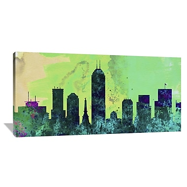 Naxart 'Indianapolis City Skyline' Graphic Art on Wrapped Canvas; 30'' H x 60'' W x 1.5'' D
