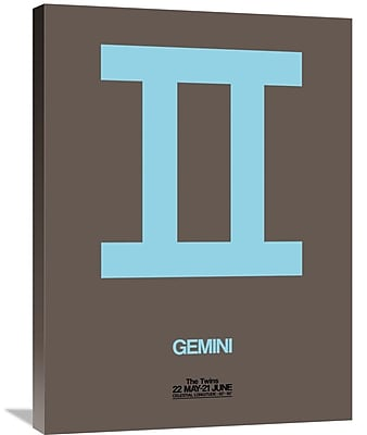 Naxart 'Gemini Zodiac Sign' Graphic Art on Wrapped Canvas in Blue; 32'' H x 24'' W x 1.5'' D