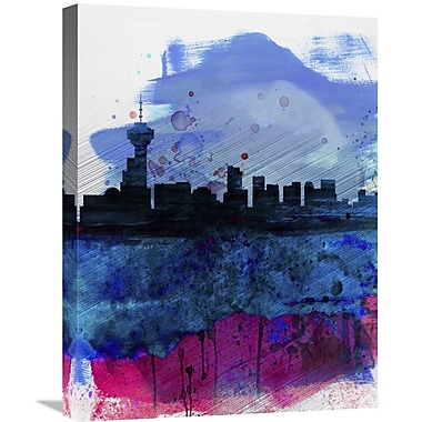 Naxart 'Vancouver Watercolor Skyline' Graphic Art on Wrapped Canvas; 24'' H x 18'' W x 1.5'' D