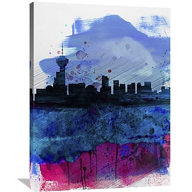 Naxart 'Vancouver Watercolor Skyline' Graphic Art on Wrapped Canvas; 40'' H x 30'' W x 1.5'' D