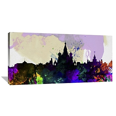 Naxart 'Moscow City Skyline' Graphic Art on Wrapped Canvas; 18'' H x 36'' W x 1.5'' D