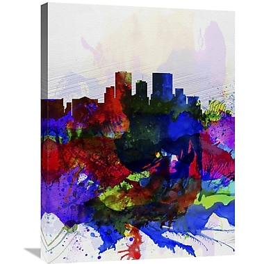 Naxart 'El Paseo Watercolor Skyline' Graphic Art on Wrapped Canvas; 32'' H x 24'' W x 1.5'' D