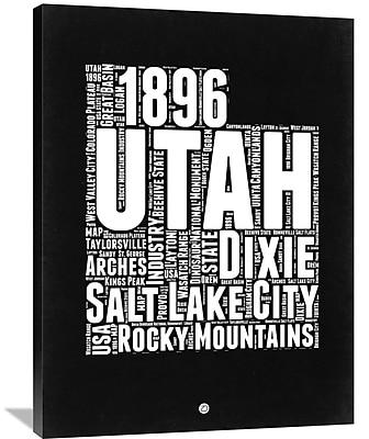 Naxart 'Utah Map' Textual Art on Wrapped Canvas; 40'' H x 30'' W x 1.5'' D