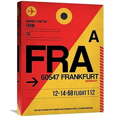 Naxart 'FRA Frankfurt Luggage Tag 2' Graphic Art on Wrapped Canvas; 24'' H x 18'' W x 1.5'' D
