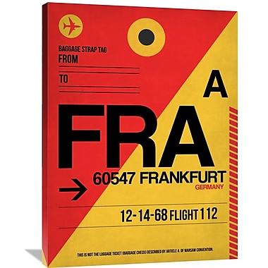 Naxart 'FRA Frankfurt Luggage Tag 2' Graphic Art on Wrapped Canvas; 40'' H x 30'' W x 1.5'' D